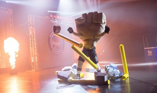 Netflix's Mascots isn't Christopher Guest's best movie. But it does have a giant humping fist!